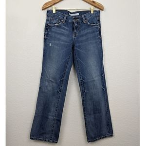 Old navy straight leg mid rise jeans 6